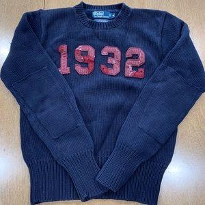 Polo Ralph Lauren Distressed 1932 Logo Sweater M